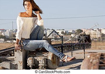 sitting on the docks