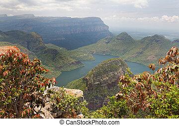 View of a beautiful mountain lake