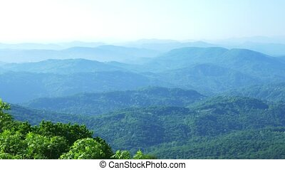 view of a beautiful mountain landscape. a mountain range...