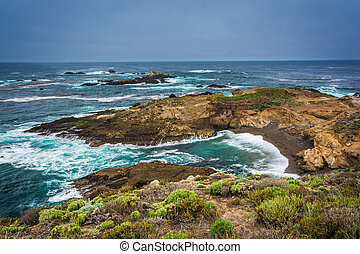 View of a cove at Point Lobos State Natural Reserve, in ...