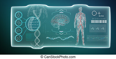 Futuristic template medical interface hud isolated on a background