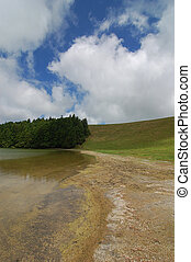 view of a lake in the Azores island