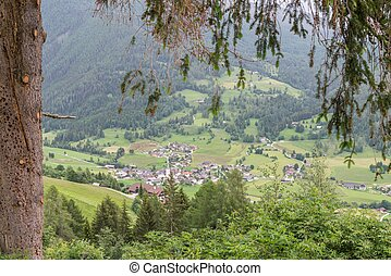 View of a mountain village in Austria
