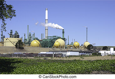 view of a oil refinery in northern California