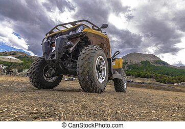 View of a quad in the foreground
