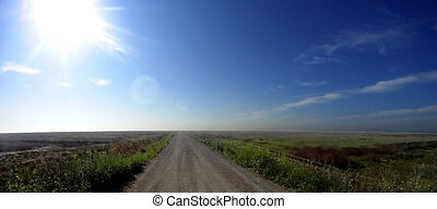 View of a road in the countryside