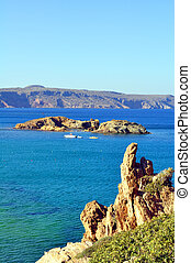 View of a small island in the Mediterranean Sea