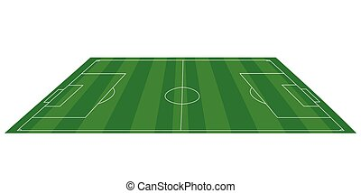 View of a soccer field