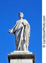 statue of Caesar Augustus in Tarragona, Spain