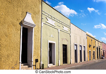 View of a Street in Valladolid, Mexico