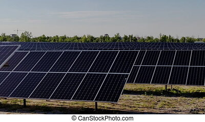 solar power station - View of a very large solar power ...