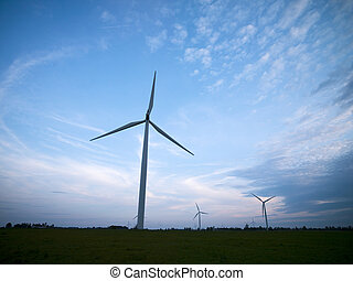 wind farm with sky in the background