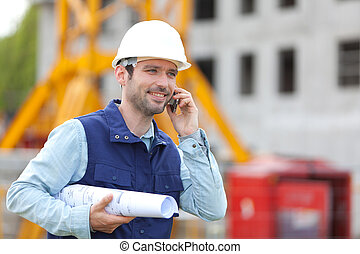 Worker on a construction site