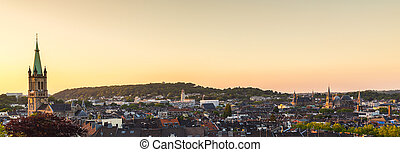 view of aachen city at sunset