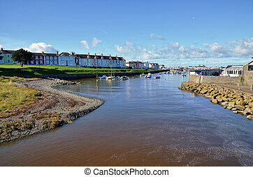View of Aberaeron Harbour and the River Aeron - Picturesque ...
