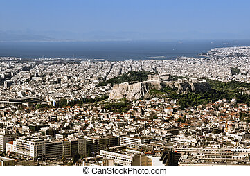 View of Acropolis from Lykavittos hill