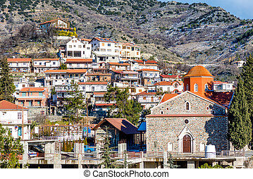 View of Agros village. Limassol District, Cyprus