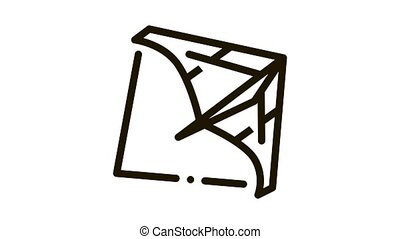 view of air launch aircraft Icon Animation. black view of air launch aircraft animated icon on white background