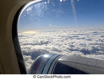 view of airplane window