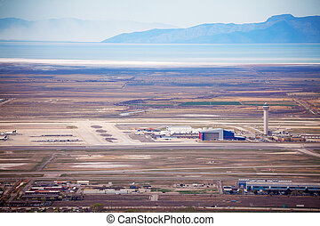 View of airport during day time in Salt Lake City