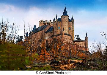 Alcazar of Segovia in november - View of Alcazar of Segovia ...