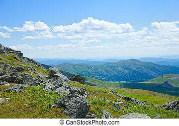 Altai mountains. Russia - View of Altai mountains. Russia