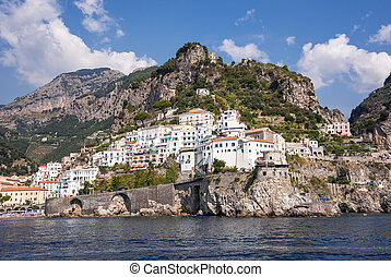 View of Amalfi town in Italy
