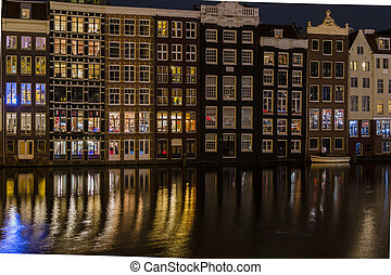 View of Amsterdam in the evening - Netherlands
