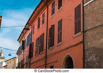 View of an historic building in Italy