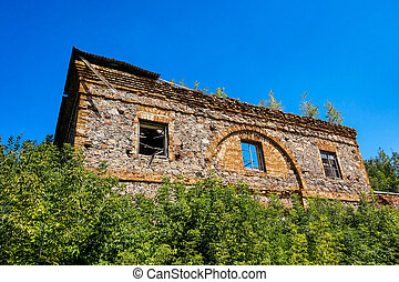 View of an old abandoned ruined building.