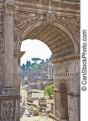 View of Ancient Forum Through Arch