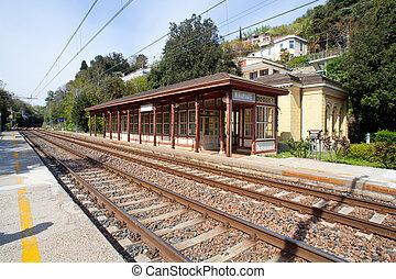 Miramare railroad station - View of ancient Miramare ...