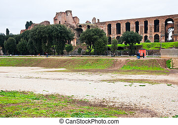 ncient Palatine and ground of Circus Maximus - view of...