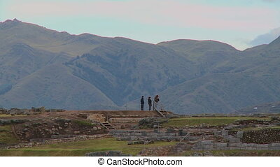 View Of Andes Mountains From Incan Ruins, Peru - Medium...