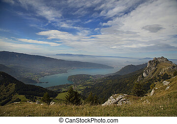 View of Annecy lake