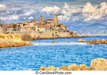 View of Antibes, France