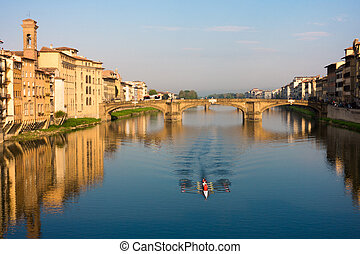 view of Arno river at the Florence