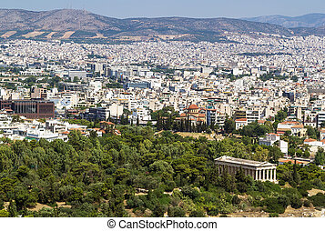view of Athens from the Acropolis