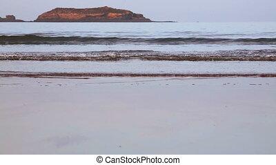 Atlantic ocean beach near Essaouira town, Morocco