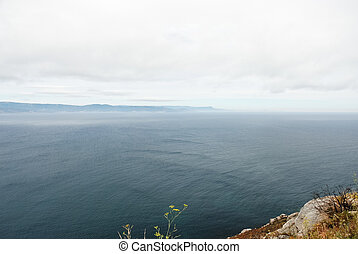 view of Atlantic ocean from Cape Finisterre, Spain