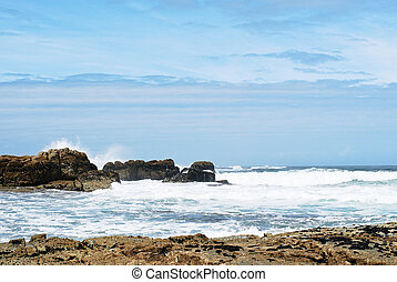 view of Atlantic ocean in Costa da Morte, Spain