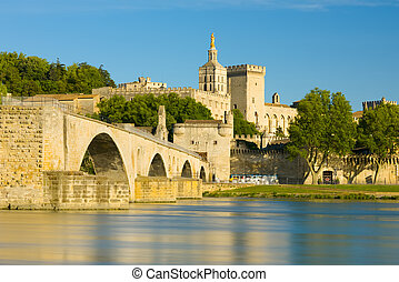 View of Avignon in a sunny summer day