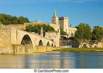Avignon in a sunny summer day