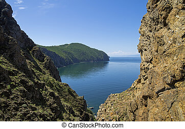 View of Baikal Lake.