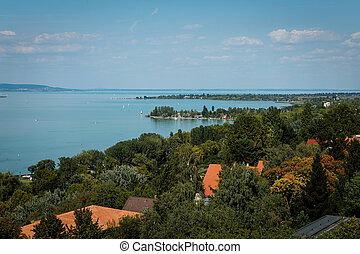 View of Balaton Lake in Hungary