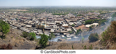 View of Bamako the city - Aerial view of the city of Bamako ...
