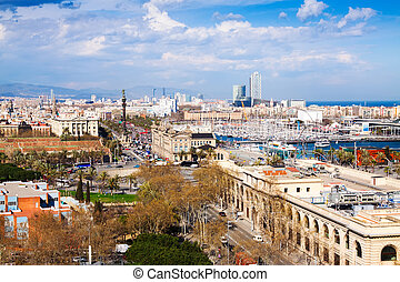 view of Barcelona citty from Montjuic