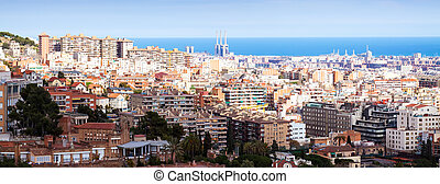 view of Barcelona in sunny day