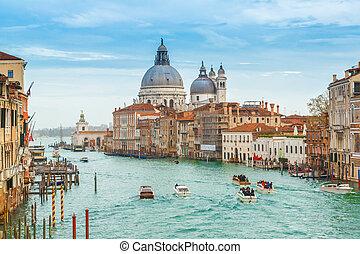 View of Basilica di Santa Maria della Salute, Venice, Italy...