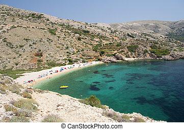 View of beach in Croatia